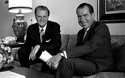 Billy Graham with Richard Nixon