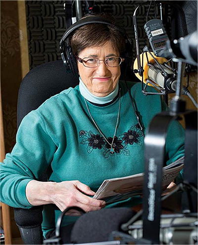 Jan recording radio programs