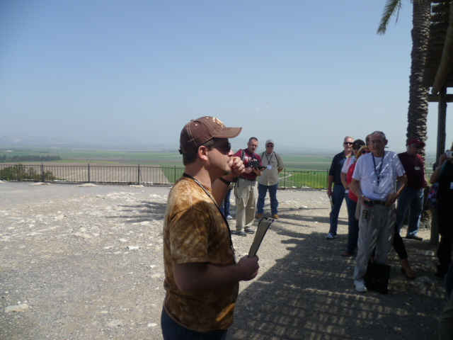 Nathan Jones Preaching at Tel Megiddo