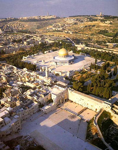 The Temple Mount and Mount of Olives