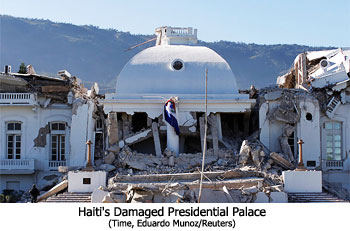 Haiti's Damaged Presidential Palace