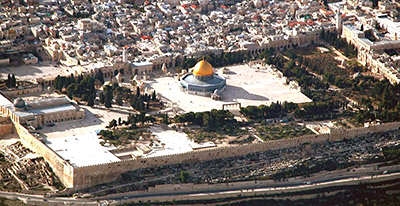 Aerial view of the Temple Mount