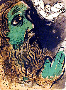Biblical Job by Marc Chagal