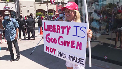 Protester in San Diego, California