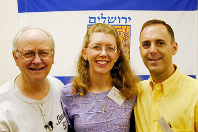 Dave with Tim and Amy at a 2001 Prophecy Partner Conference.