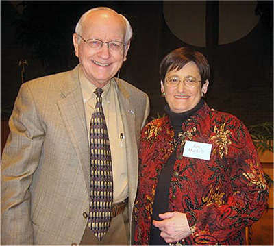 Dr. Reagan with Jan Markell during her 2006 annual conference
