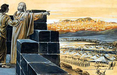 Elijah reveals God's army to his servant