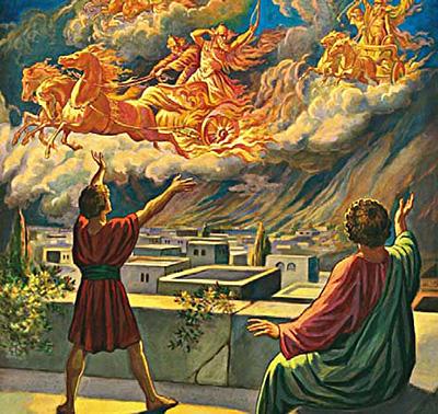 Elisha shows his servant the armies of God