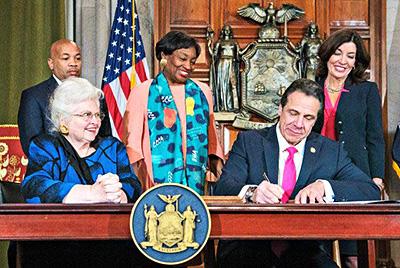 New York legislators celebrating the killing of babies