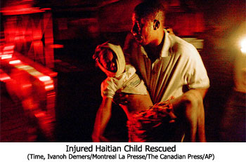 Injured Haitian Child Rescued