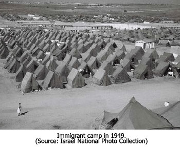 Immigrant Camp in 1949