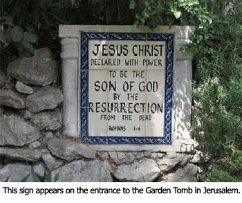 Garden Tomb Sign