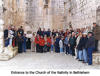 Entrance to the Church of the Nativity in Bethlehem