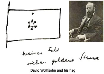 David Wolffsohn and his flag